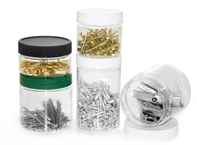 Plastic PET Jars To Organize Your Shop Or Garage