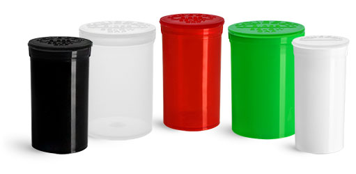 Hinge Top Containers for CBD Hemp Products