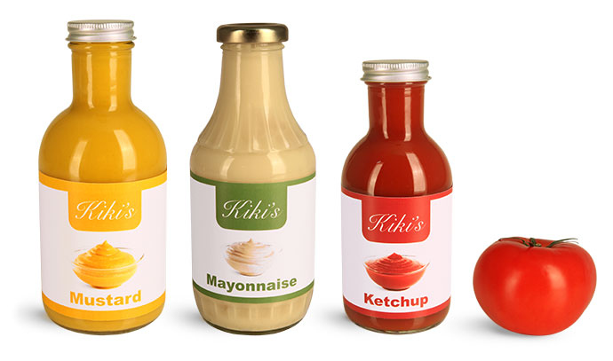 Clear Glass Decanter Style Sauce Bottles