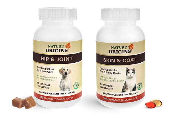 Pharmaceutical Pet Supplement Bottles