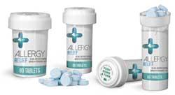White Child Resistant Reversible Cap Allergy Pill Vials