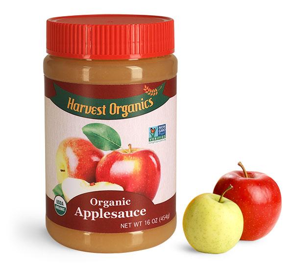 Food Jars, Plastic Applesauce Jars