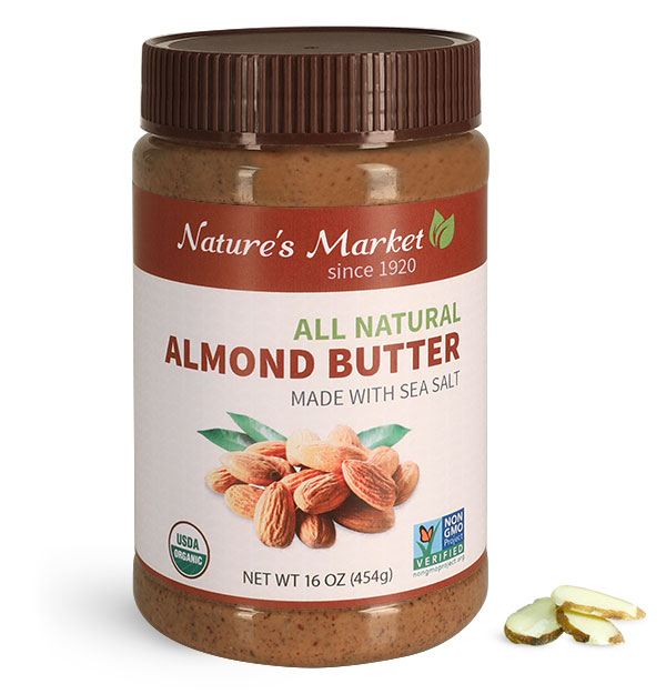 Food Jars, Plastic Almond Butter Jars