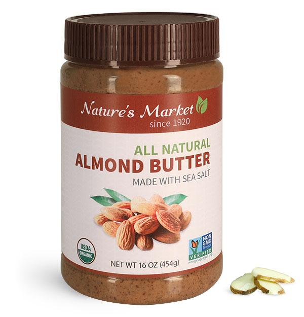 Food Jars, Plastic Almond Butter Jars