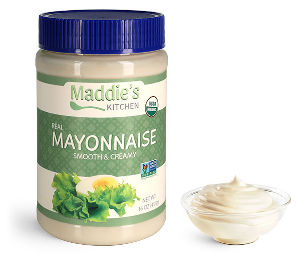 Food Jars, Plastic Mayonnaise Jars