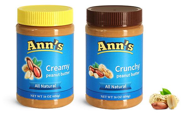 Food Jars, Plastic Peanut Butter Jars