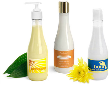 Woozy Bottles for Body Care Products