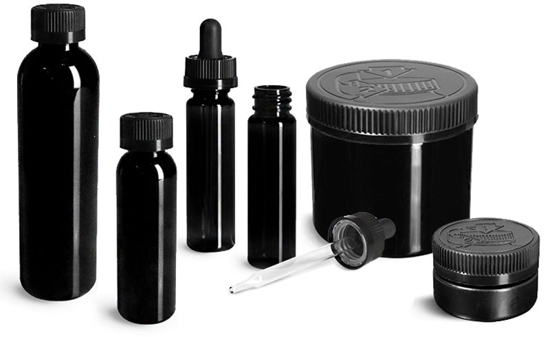 Prescription & OTC Black Containers