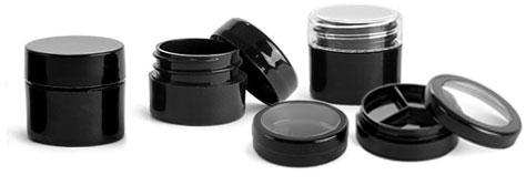Black Cosmetic Containers