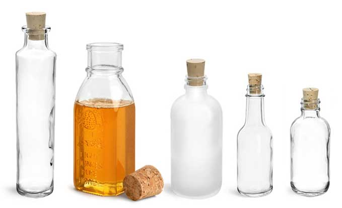 Product Spotlight - Glass Bottles with Cork Stoppers