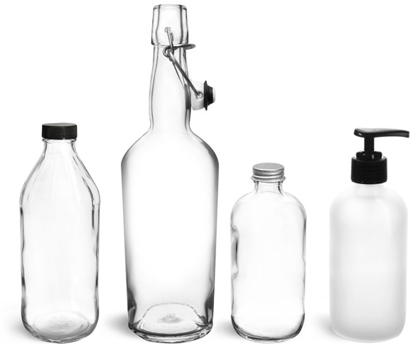 Glass Bubble Bath Bottles