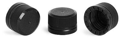28 mm Unlined Black Tamper Evident Caps