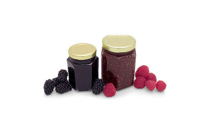Raspberry and Blackberry Canning Jars