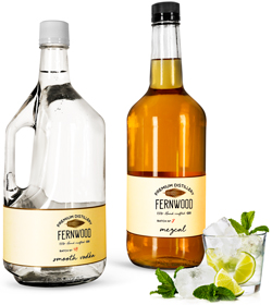 Restaurant Glass Liquor Bottles