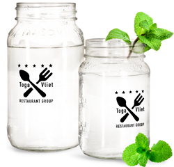 Mason Jar Restaurant Drink Containers