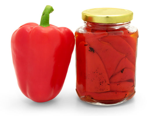 Roasted Red Pepper Canning Jars