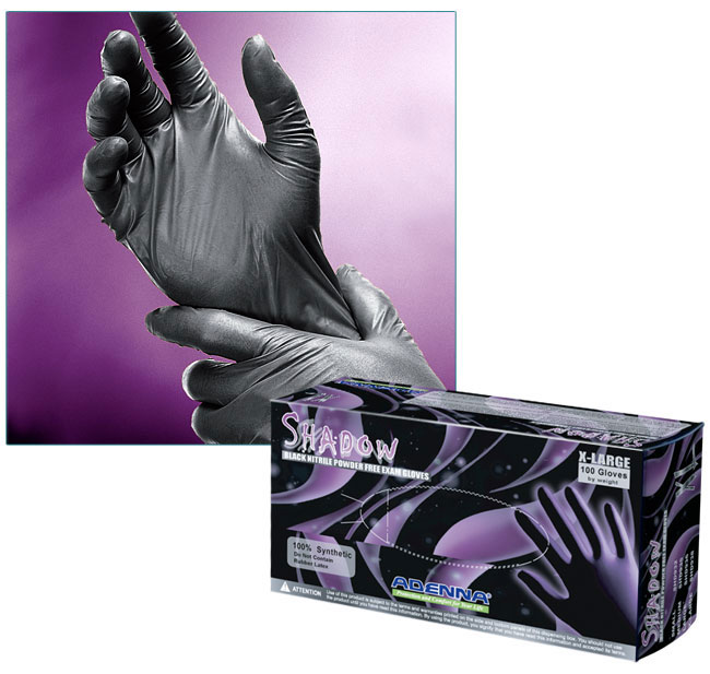 Nitrile Exam Gloves, Shadow Black	 Nitrile Powder-Free Exam Gloves