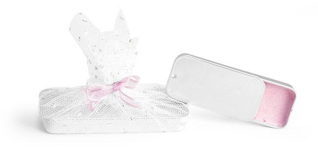 Metal Slide Top Tins Wedding Favor Ideas