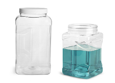 PET Square Gripped Wide Mouth Jars