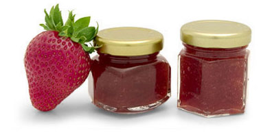 Strawberry Canning Jars