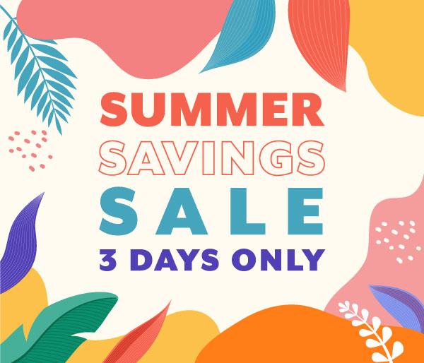 Big Summer Savings Sale