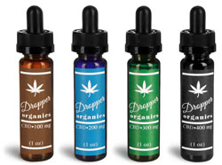 Plastic CBD Hemp Oil Tincture Bottles