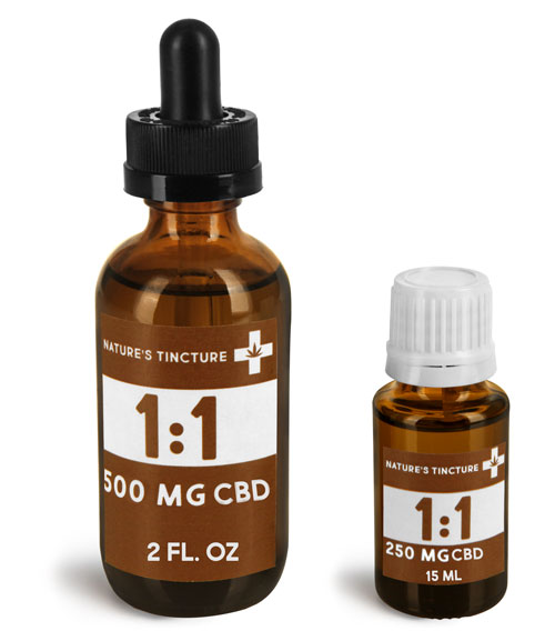 Glass CBD Hemp Oil Tincture Bottles