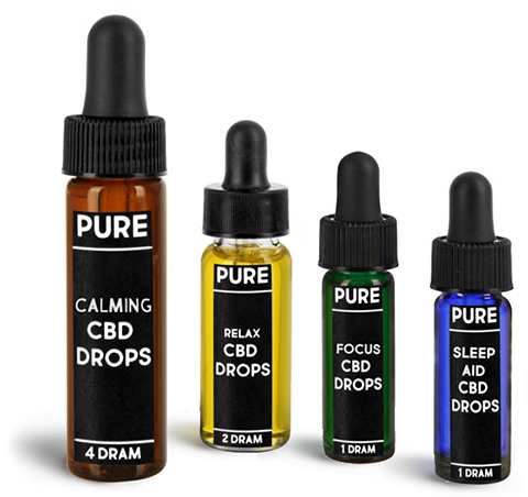 Glass CBD Hemp Oil Tincture Vials