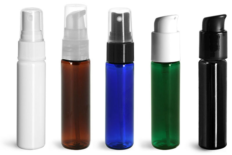 Plastic Cylinder Bottles for Toiletries
