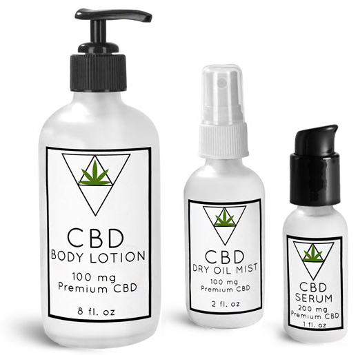 Glass CBD Topical Bottles