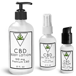 Glass Cannabis Topical Bottles