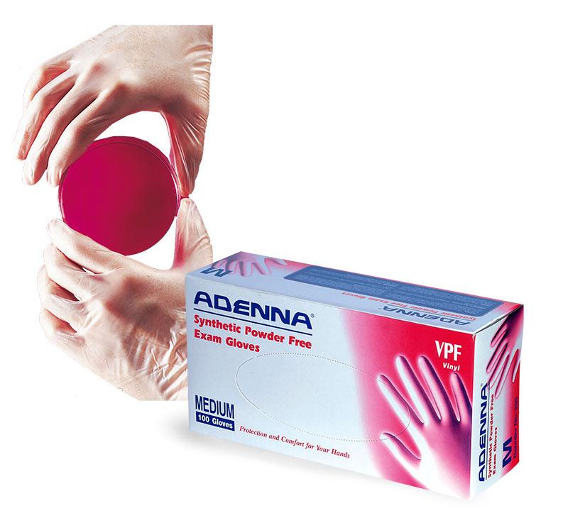Vinyl Gloves, Synthetic Vinyl Powder Free Exam Gloves