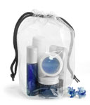 Clear Vinyl Bags With Black Drawstring