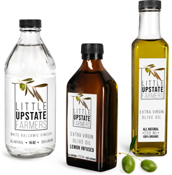 Glass Vinegar and Cooking Oil Bottles