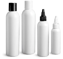 White PET & Polypropylene Plastic Bottles