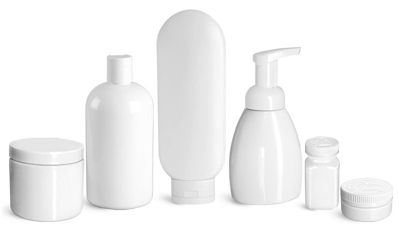 Product Spotlight - White Plastic Bottles & Jars