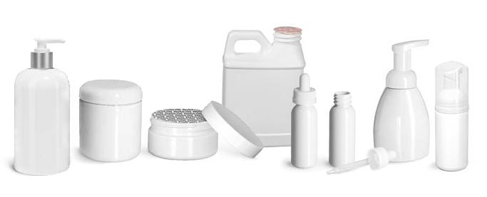 Product Spotlight - White Plastic Bottles & Jars