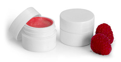White Plastic Thick Wall Lip Balm Jars