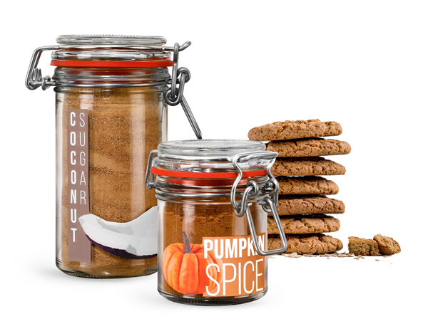Glass Wire Bale Spice Jars