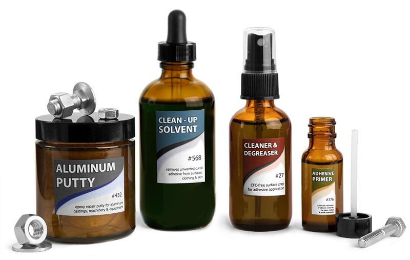Amber Glass Chemical Bottles & Jars