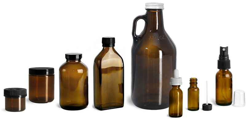 Product Spotlight - Amber Glass Bottles & Jars