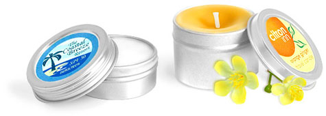 Round Metal Tins w/ Covers