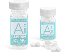 OTC Pain Reliever Bottles, Aspirin Bottles