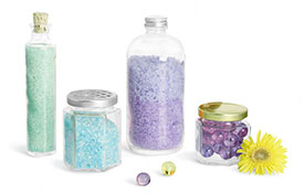 Glass Bath Salt Containers