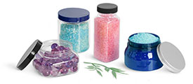 Plastic Bath Salt Containers