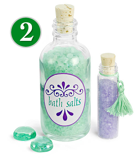 Glass Balth Salt Bottles