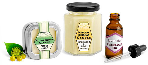 Beeswax Candle Containers