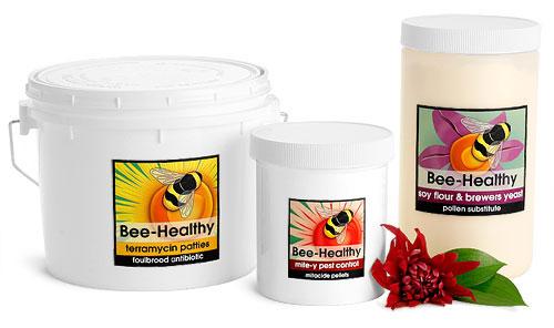 Plastic Bee Care Jars & Pails