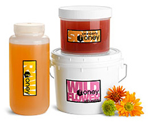 Bulk Plastic Honey Jars, Bottles & Pails
