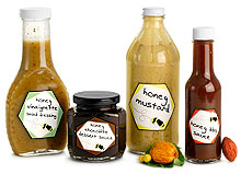 Glass Honey Sauce Bottles & Jars